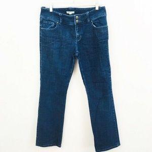 CAbi Dark Wash Straight Leg Jeans 10